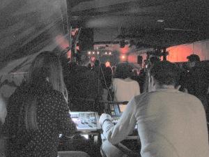 View from the sound board at La Peniche